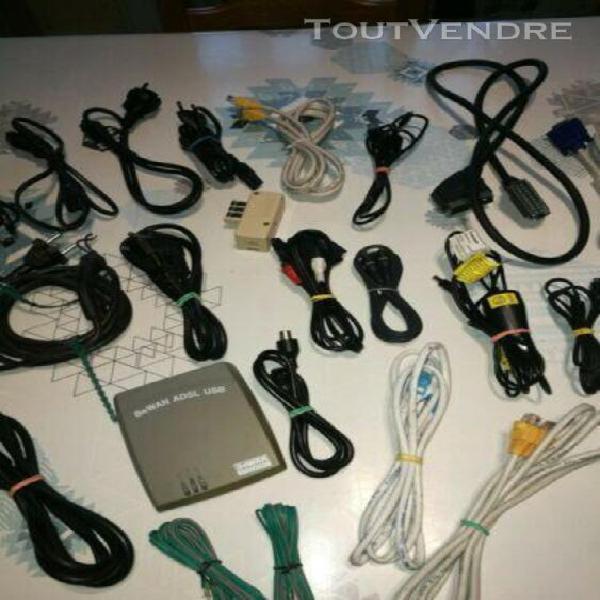 Gros lot de cables divers