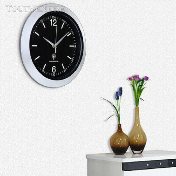 Horloge murale / radio-pilotée - ø30cm - avec trotteuse et