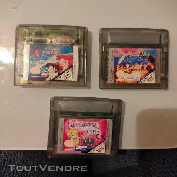 Jeux game boy color - sabrina / la petite sirène 2 (disney)