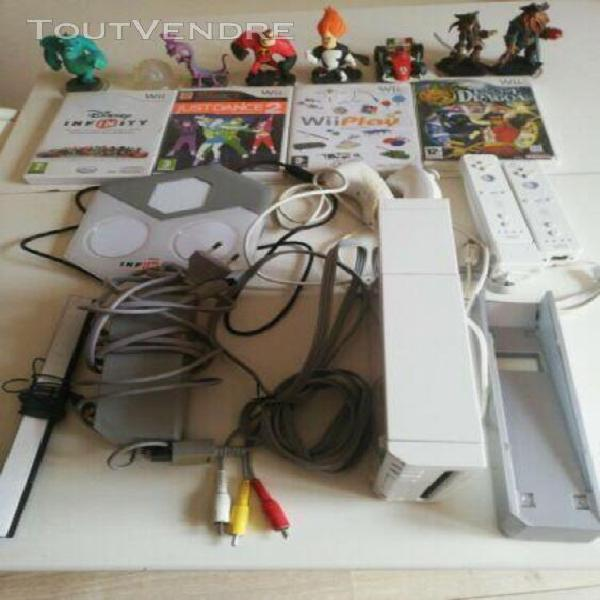 Occasion pack console nintendo wii wiimote jeux figurines en