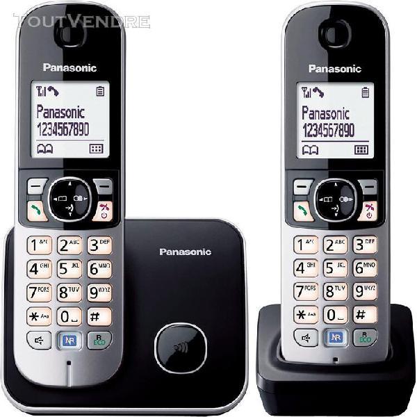Téléphone dect identification de l'appelant noir gris