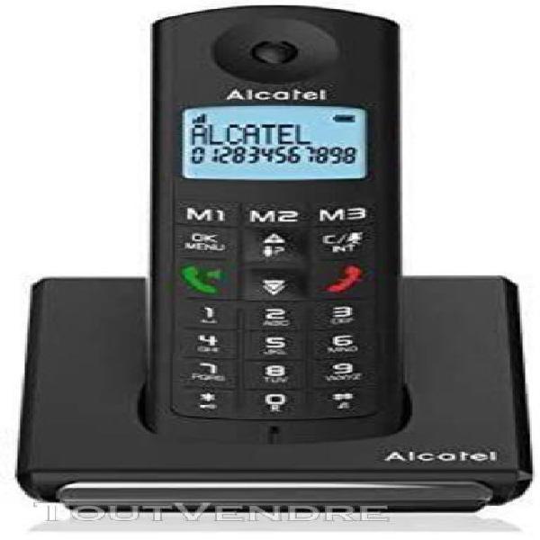 Téléphone sans fil dect avec fonction main libre noir