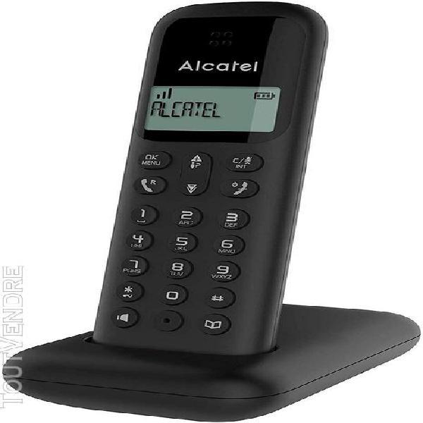 Téléphone sans fil dect avec fonction mains libres noir
