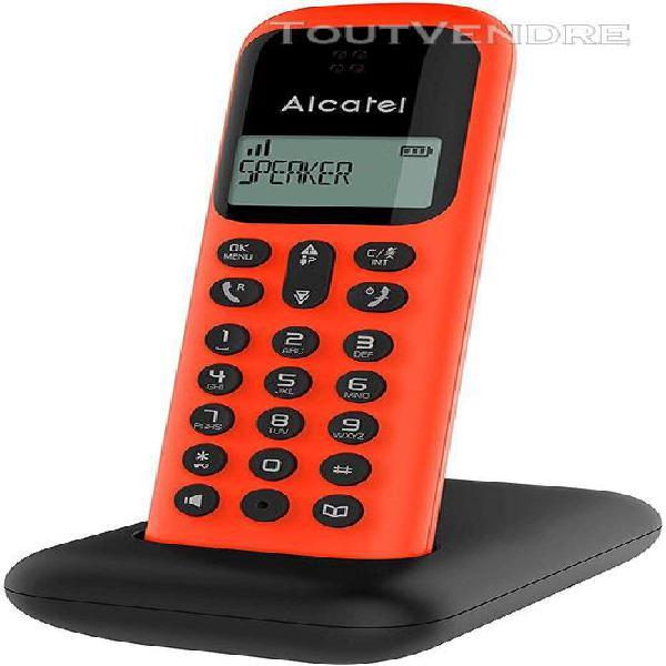 Téléphone sans fil dect avec fonction mains libres rouge