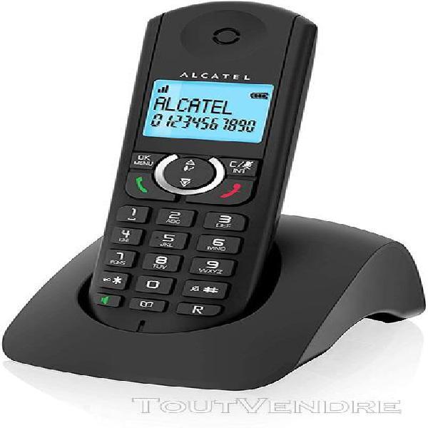 Téléphone sans fil dect avec identifiant d'appel noir