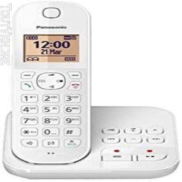 Téléphone sans fil dect avec répondeur blanc