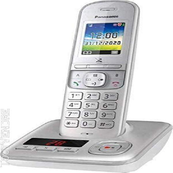 Téléphone sans fil dect avec répondeur gris