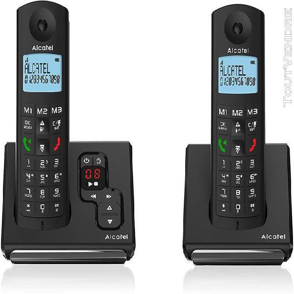 Téléphone sans fil dect avec répondeur intégré noir