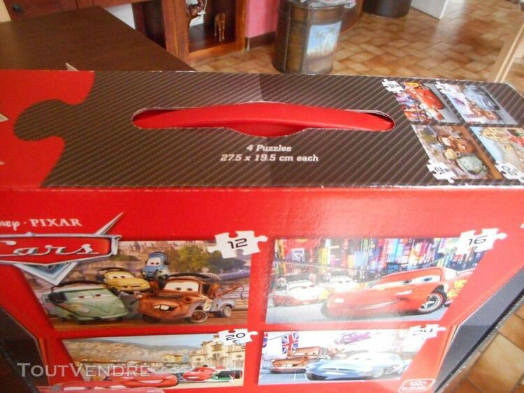 Valisette 4 puzzles disney pixar cars, complet, be++
