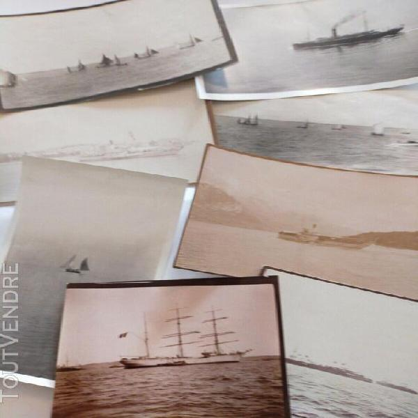 1880 lot 8 photos marine albumen original france old portrai