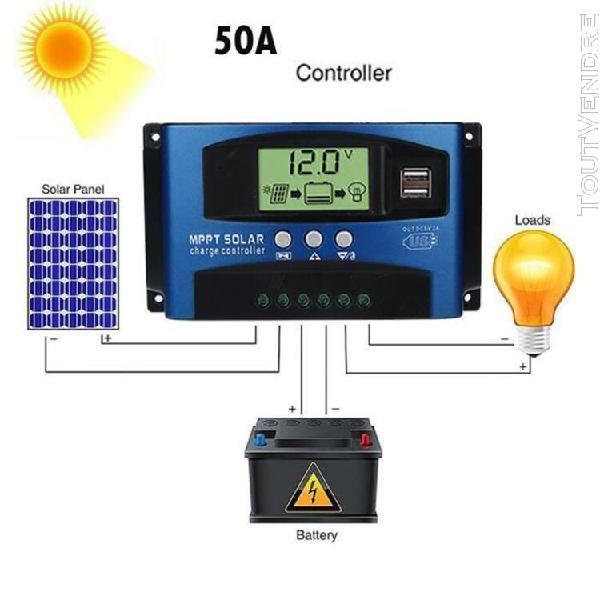 50a mppt panneau solaire régulateur de charge contrôleur