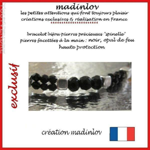 """Bracelet bijou pierres précieuses """"spinelles"""" magnifique"""