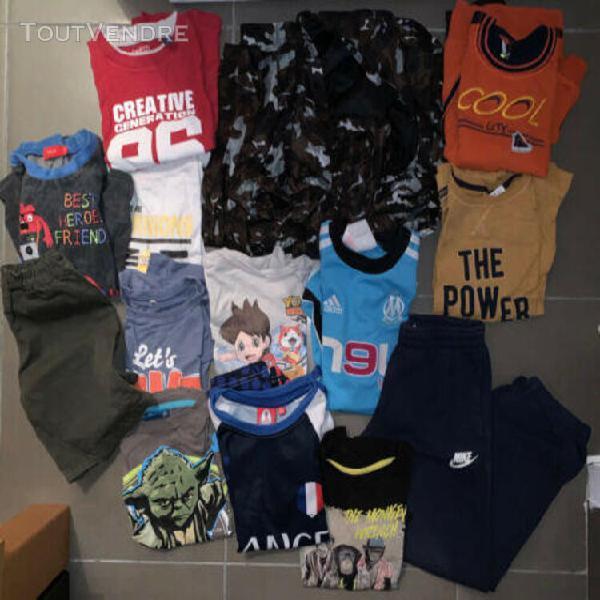 Grand lot de 14 vêtements 8 ans garçon - om, nike...