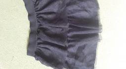 jupe à volants noirs fille