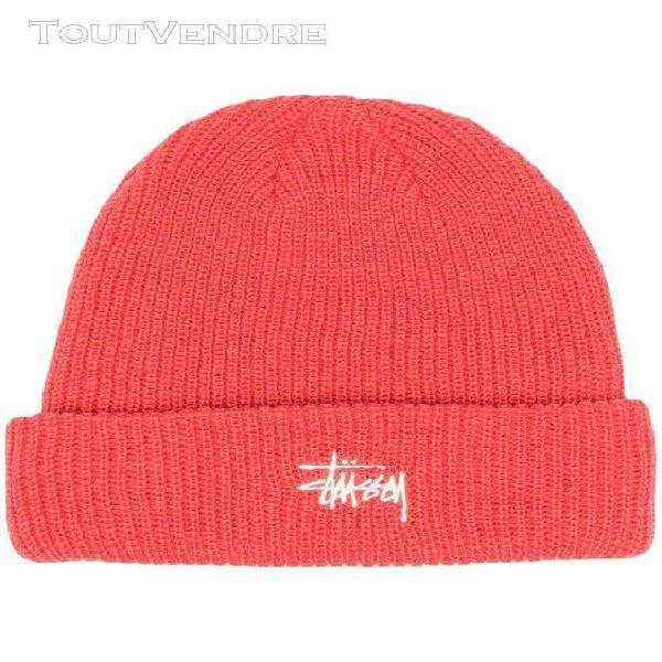 stussy homme 132998coral rouge acrylique chapeau