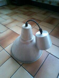 Ancien abat jour suspension lustre industiel deco mètal