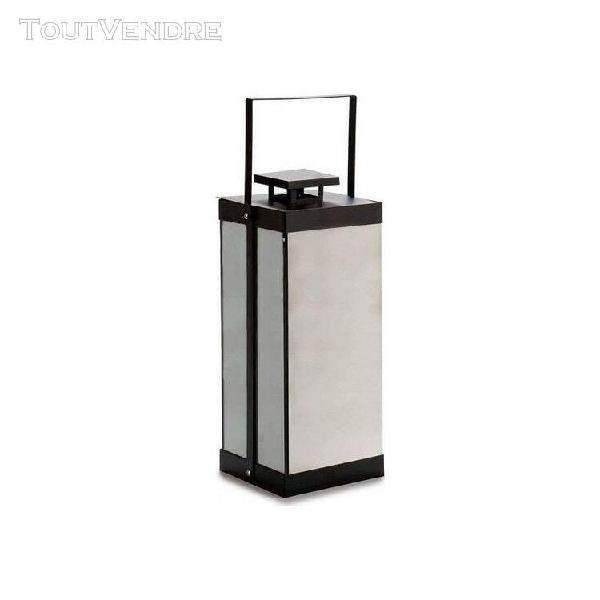 Lanterne à led noir métal métal miroir 20 (15,5 x 37 x
