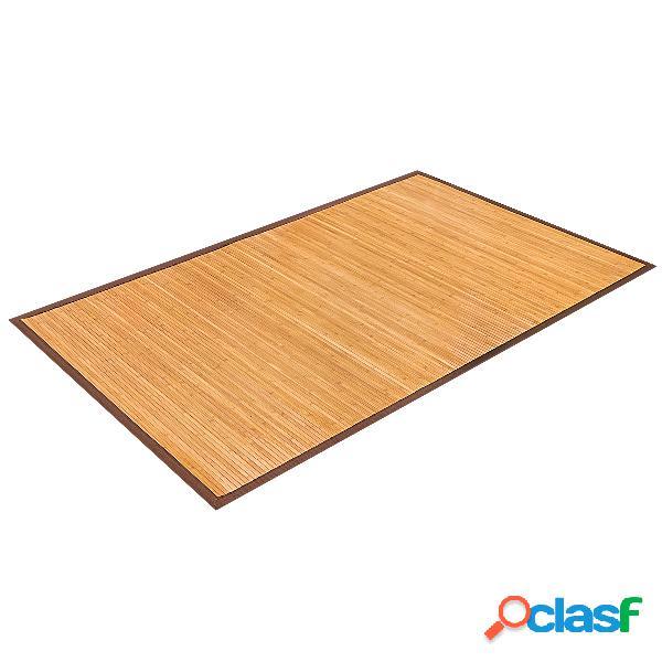 Costway tapis en bambou naturel pour salle de bain ou salon 150 x 240 cm