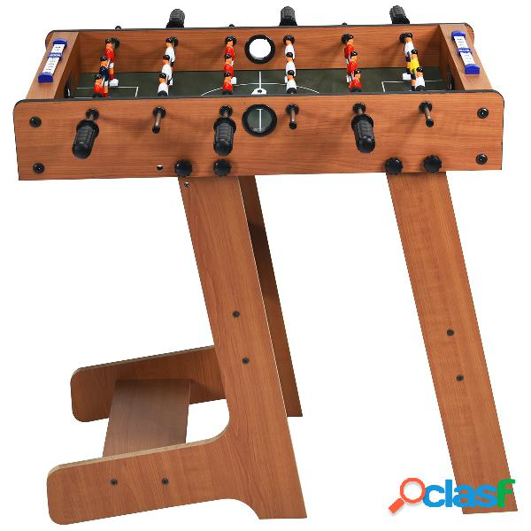 Costway baby-foot pliable table de jeu de football pour adultes et enfants à partir de 8 ans 70 x 36 x 59 cm
