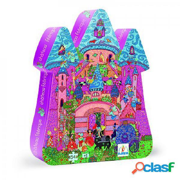 Puzzle silhouette - château féerique djeco
