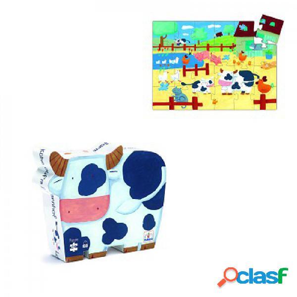 Puzzle silhouette - vaches à la ferme djeco