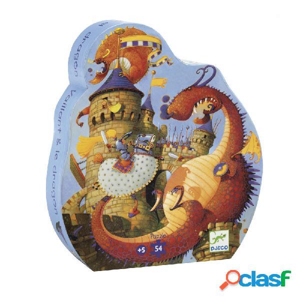 Puzzle silhouette - vaillant & les dragons djeco