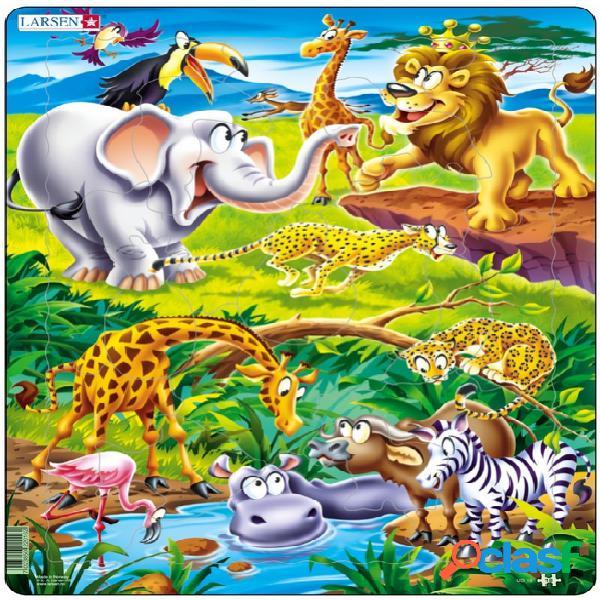 Puzzle cadre - animaux de la jungle larsen