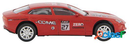 Hema voiture de course métal rouge
