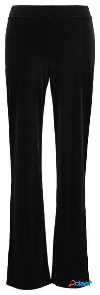 Hema pantalon femme velours noir (noir)