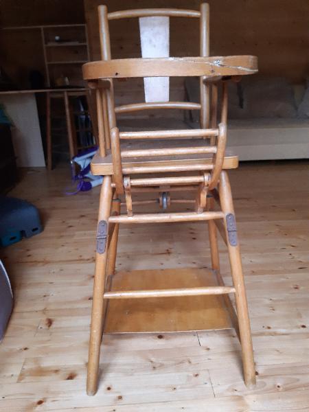 Chaise haute bébé(poupée) pliante,transformable trotteur