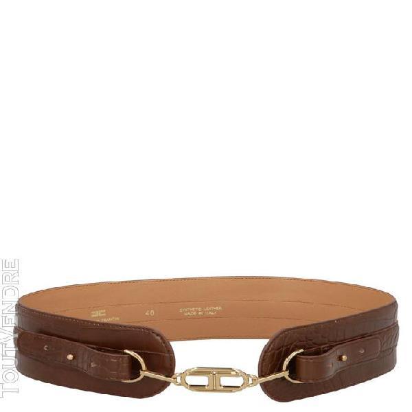 Elisabetta franchi femme ct60s08e2038 marron ceinture