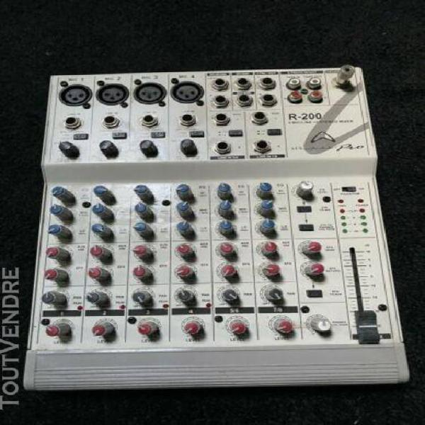 Micro de studio + table de mixage