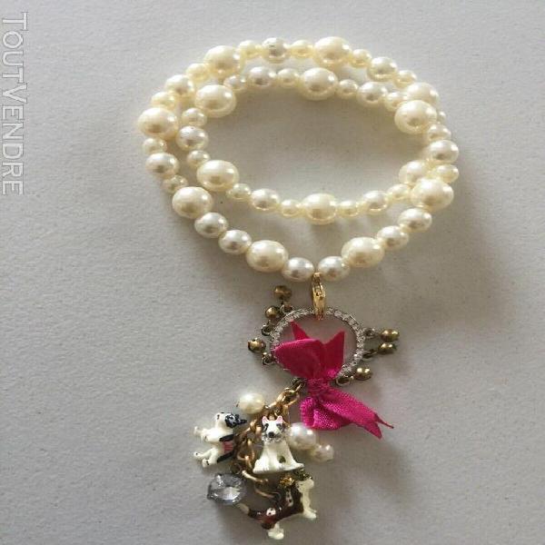 Parure 3 pièces n2 les néréides perles et animaux neuve