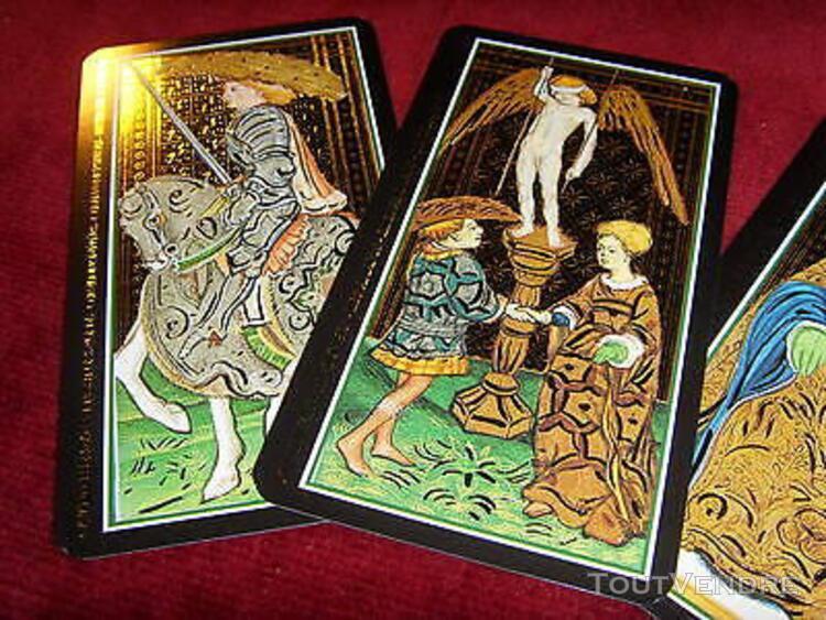 Tarot de marseille visconti sforza rehaussé de doré or