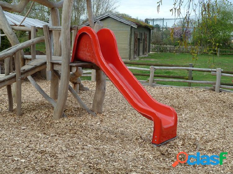 Toboggan rouge portique jeux 250cm
