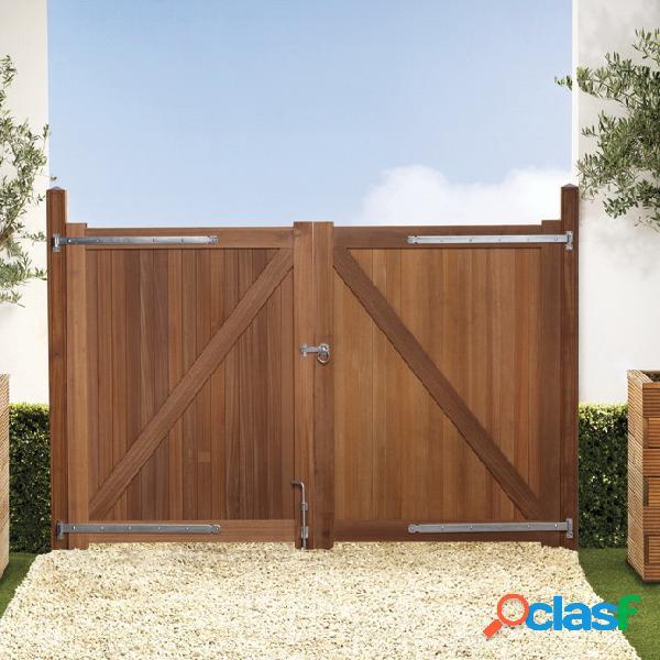 Porte jardin bangkirai 300x180cm