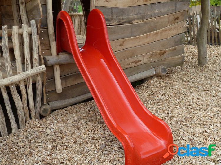 Toboggan rouge portique jeux 190cm
