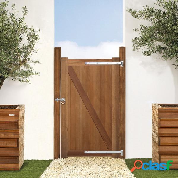 Porte jardin bangkirai 100x180cm