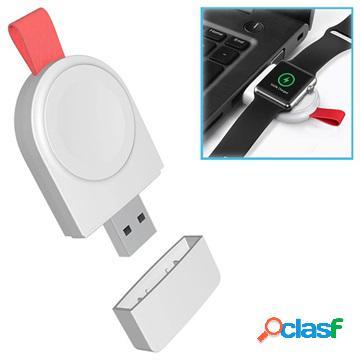Chargeur apple watch 4/3/2/1 sans fil portable a3 - 2w - blanc