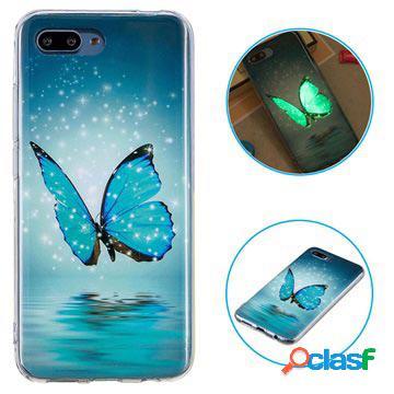 Coque huawei honor 10 phosphorescente en tpu - papillon bleu