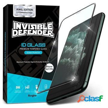 Protecteur d'écran iphone x/xs/11 pro ringke id jewel ed. - noir