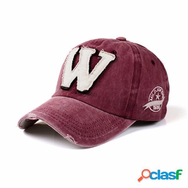 Homme femme casquette lavable chapeau de sport camionneur baseball ajustable style hip-hop avec visière incurvée