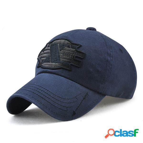 Chapeau de soleil à broderie de x et flèche en coton chapeau de baseball pour extérieur voyage pour homme