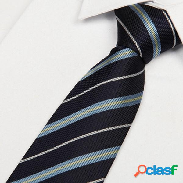 Cravate en polyester jacquard pour hommes, ensembles de clips, boutons de manchette, série de cadeaux de foulard