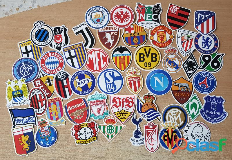 Autocollant sticker Club de football foot Ligue 1, europa, uefa, champions league