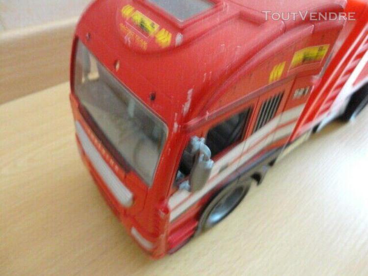Camion rouge porte voiture double étages °° jouet enfant