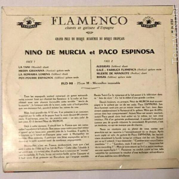 Vinyl 33t niño de murcia, paco espinosa – flamenco en
