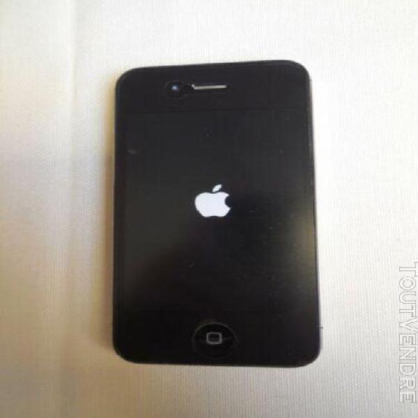 Apple iphone 4s noir - 32 gb - câble et chargeur - coque -