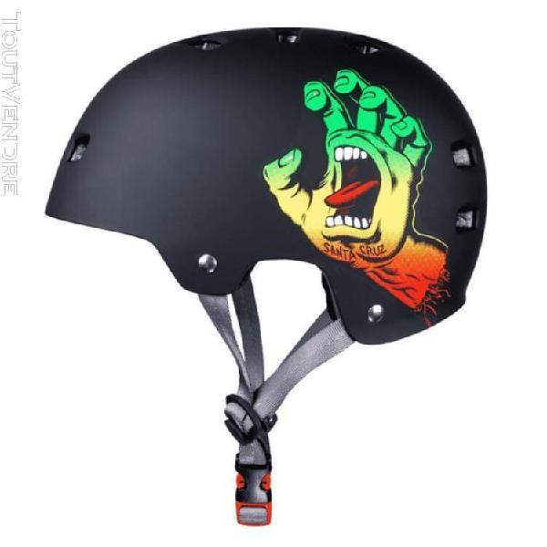 Casque bullet helmet (casque) screaming hand rasta + mousses