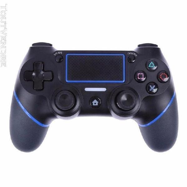 Contrôleur de jeu sans fil dualshock 4 pour sony ps4 (bleu)